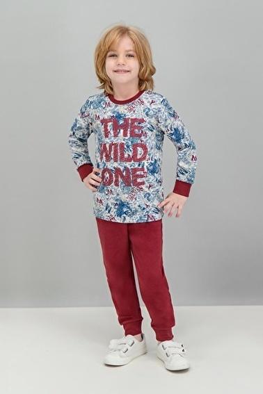 Roly Poly Rolypoly Wild Tiger Krem Erkek Çocuk Pijama Takımı Gri